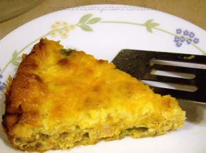 chicken and cheese quiche