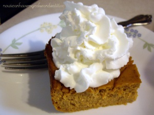 sugar-gluten free pumpkin pie